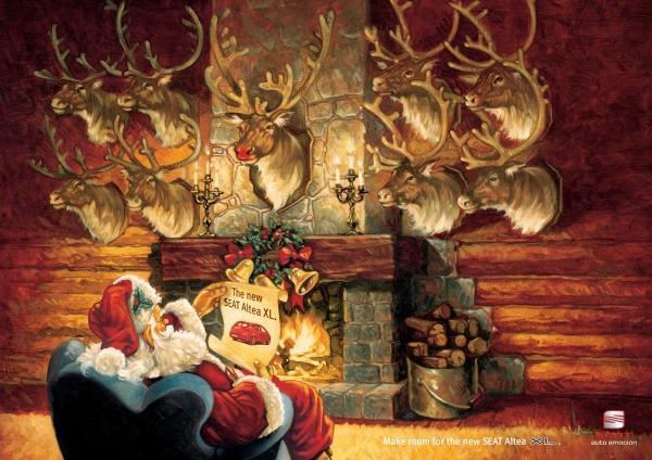 Publicidad de Autos con Santa