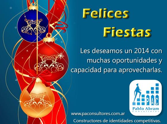 Feliz Año nuevo 2014 -tarjeta